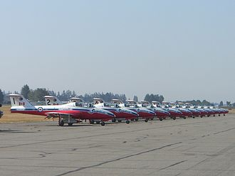 "Abbotsford International Airshow - The Canadian Snowbirds on the ""Hotline"" at the Abbotsford Airshow 2000"