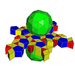 Snub icosidodecahedral prism net.png