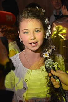 Sofia Tarasova after JESC 2013 winners' press conference.jpg