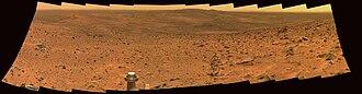 Home Plate (Mars) - Image: Sol 594A P2281 L257atc A597R1 br 2