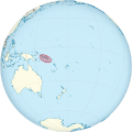Solomon Islands on the globe (Polynesia centered).svg
