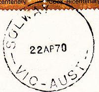 Solway Victoria postmark 1970