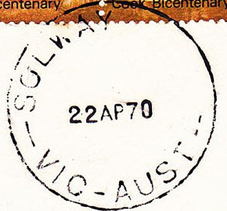 Postal district numbers of Melbourne - Postmark with postal district number filed off after postcode introduction