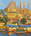 Sorin Adam - Peisaj de la podul Galata (Istanbul).jpg