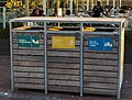Sorted waste containers at Victoria & Alfred Waterfront, Cape Town.jpg