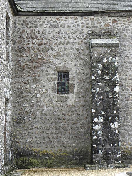 Église Notre-Dame-de-l'Assomption de Soucé (53). Appareil de la costale nord de la nef.