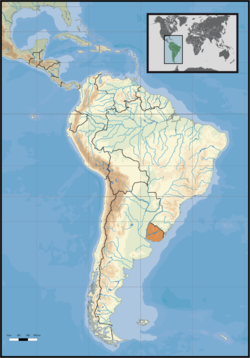 Location of Uruguay