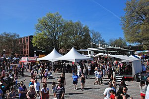 Portland Saturday Market - The south end of the market in 2012, in Waterfront Park