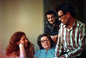 Soviet dissidents - Moscow Helsinki Group members Yuliya Vishnevskya, Lyudmila Alexeyeva, Dina Kaminskaya, Kronid Lyubarsky in Munich, 1978