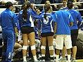 Spartans at women's volleyball, SJSU at Cal 2009-09-12.JPG
