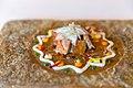 Spicy mandala of artichoke flower, milk-fed lamb belly, lamb sweetbreads, curry yogurt, beetroot, spinach, turnip, lemon, tangerine, sweet potato, leaves and flowers (15846983926).jpg