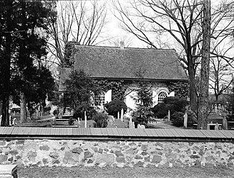 St. David's Episcopal Church (Radnor, Pennsylvania) - St. David's in 1925; photo from the Historic American Buildings Survey