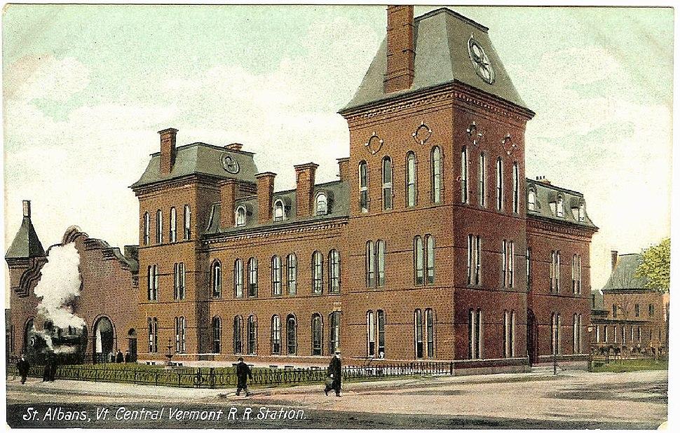 St. Albans station 1910 postcard