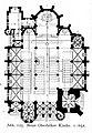 """St. Apollinariskirche in Düsseldorf-Oberbilk, erbaut von 1904 bis 1907, Architekt Caspar Clemens Pickel,Grundriss (""""Neue Oberbilker Kirche"""").jpg"""