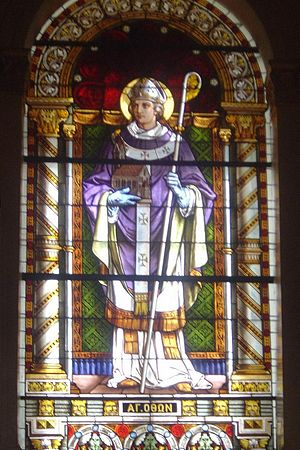 Otto of Bamberg - Stained glass depiction of Saint Otto, Cathedral Basilica of St. Dionysius the Areopagite, Athens