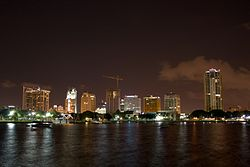 Downtown St. Petersburg skyline in 2008