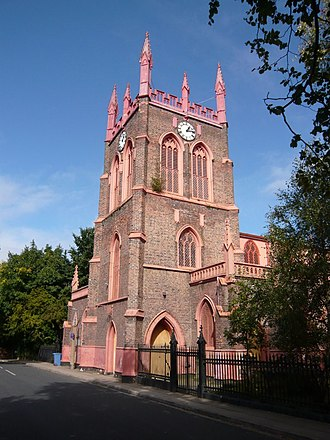 St Michael's Church, Aigburth - Image: St Michael's South West view Aigburth