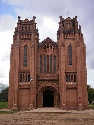 St Michael and All Angels Church, Blantyre - West-facing facade