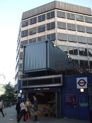 St Pauls station entrance refurb.JPG