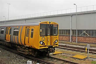 Birkenhead North TMD - A Merseyrail Class 507 outside the depot.