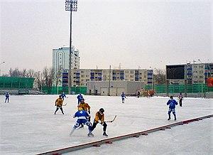 Obukhovo, Noginsky District, Moscow Oblast - The bandy stadium in Obukhovo