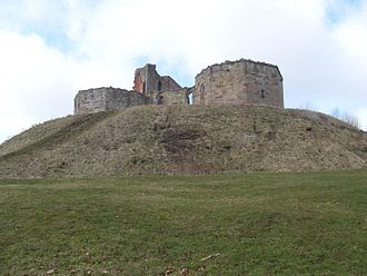 John Ipstones - Remains of Stafford Castle, the Stafford family's great fortress, built in the mid-14th century, to the west of the town.