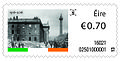 Stamp Ireland 2016 centenary Easter Rising-destroyed GPO.jpg