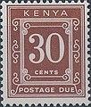 Stamp of Kenya - 1967 - Postage due - 30 cents.jpeg