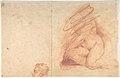 Standing Nude Female Figure (recto); Studies of a Kneeling Nude Female Figure and of a Man's Head (verso) MET DP801295.jpg