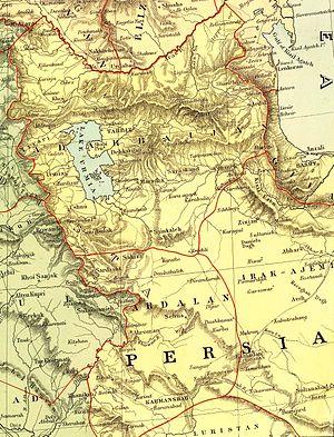 Dunsterforce - Image: Stanford, Edward. Asia Minor, Caucasus, Black Sea. 1901 (Z)
