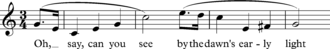 """Sequence (music) - Opening bars of """"The Star-spangled Banner"""""""