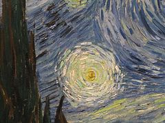 Starry night Van Gogh detail 2