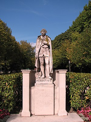 Jean-Rodolphe Perronet - A monumental statue of Jean-Rodolphe Perronet by Adrien Étienne Gaudez