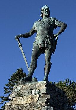 Statue av Fridtjov den frøkne oppført av Vilhelm II