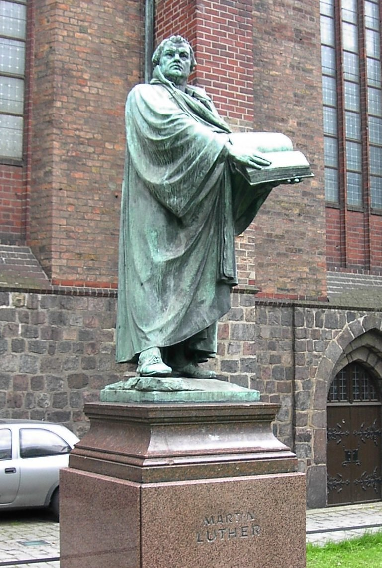 Statue of Martin Luther, St. Mary%27s Church, Mitte, Berlin