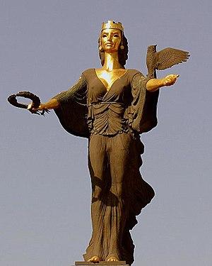 Statue of Sveta Sofia - Image: Statue of Sveta Sofia