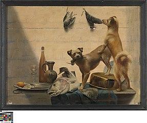 Stilleven met honden