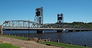 Stillwater Bridge (St. Croix River) vertical-lift bridge connecting Stillwater, Minnesota and Houlton, Wisconsin over the St. Croix River