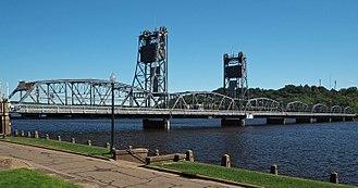 Stillwater Bridge (St. Croix River) - The Stillwater Bridge from the southwest