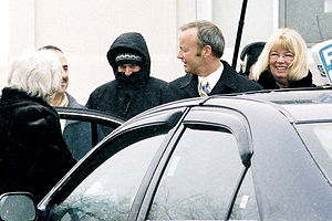 Stockwell Day - Day arrives for his swearing in at Rideau Hall on February 6, 2006.