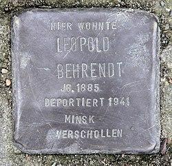 Photo of Leopold Behrendt brass plaque