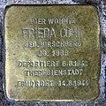Stolperstein Damaschkestr 30 (Charl) Frieda Cohn.jpg