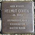 Stolperstein Delmenhorst - Helmut Cohen (1913).JPG