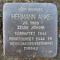 Stolperstein Herford Hardenbergstraße 7 Hermann Abke.JPG