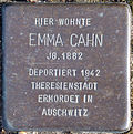 Stolperstein Köln, Emma Cahn (Hauptstraße 22).jpg