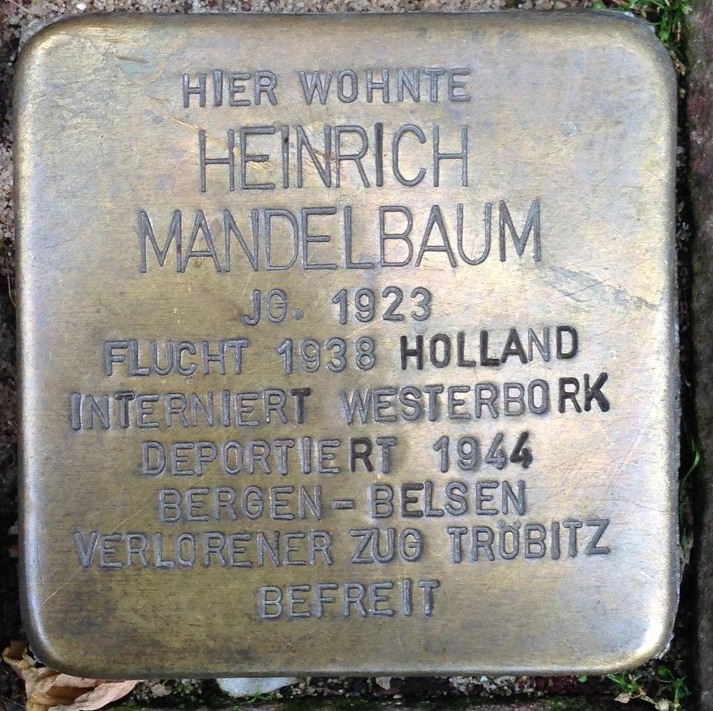 Stolperstein Kleve An der Münze 7-9 Heinrich Mandelbaum