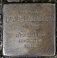 Stolperstein Remscheid Kölner Straße 99 David Rosenbaum.jpg