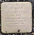 Stolperstein Remscheid Palmstraße 10 Josef Wundermann.jpg