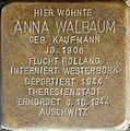 Stolpersteine Aachen, Anna Walbaum (Krefelder Straße 16).jpg
