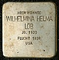 Stumbling block for Wilhelmina Helma Löb (Bergisch Gladbacher Straße 1203)